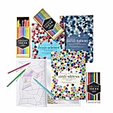 Hardie Grant Coloring Book With Bright Ideas Colored Pencils