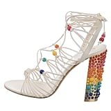 Salvatore Ferragamo Rainbow Beaded Sandals