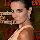 We loved the metallic smoky eye and bold brows Camilla Belle wored with her slicked back updo.