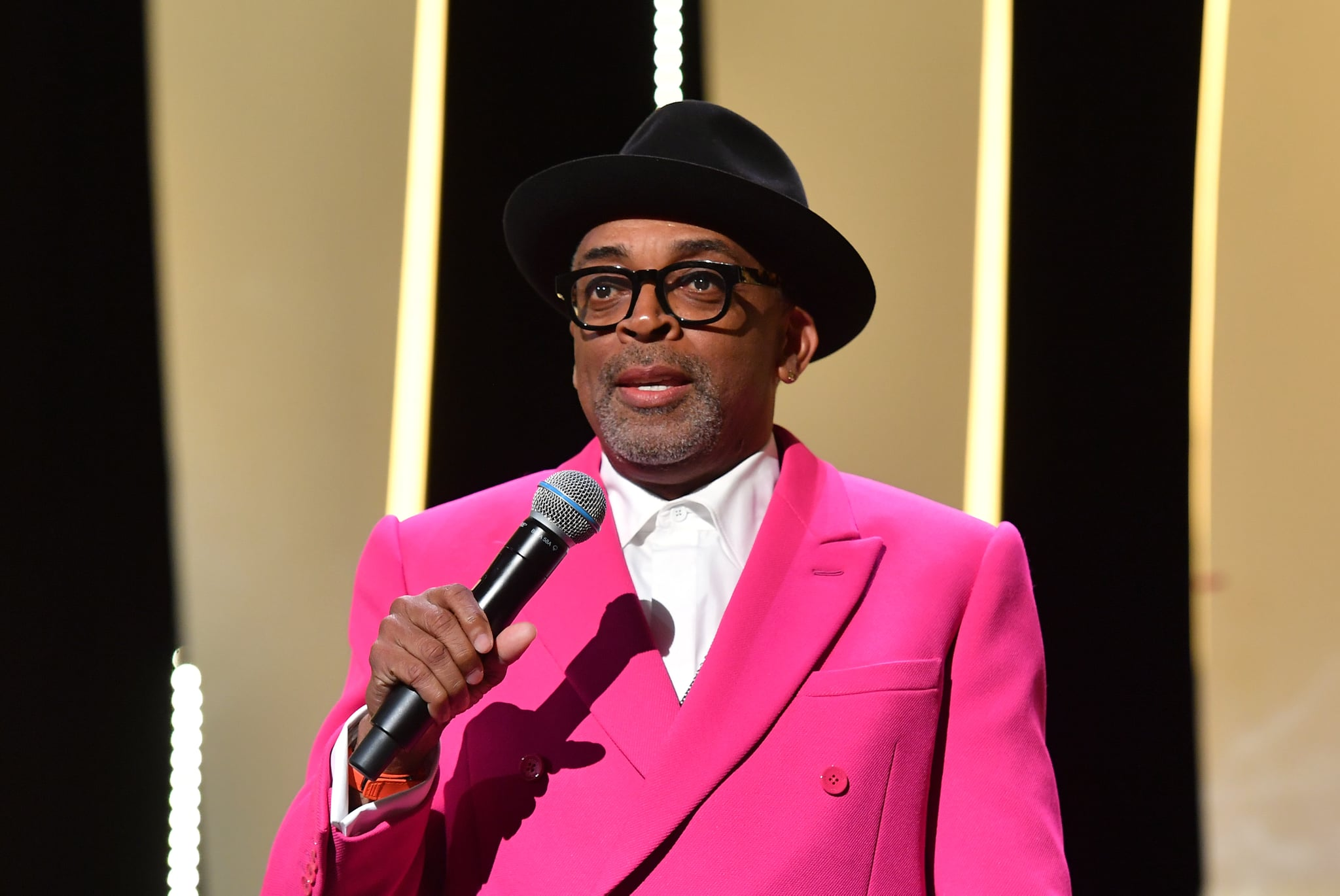 CANNES, FRANCE - JULY 06: Jury president and Director Spike Lee during the opening ceremony of the 74th annual Cannes Film Festival on July 06, 2021 in Cannes, France. (Photo by Stephane Cardinale - Corbis/Corbis via Getty Images)