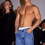 Kate went to Hollywood for work —with a shirtless Mark Wahlberg for Calvin Klein, no less —in September 1995.