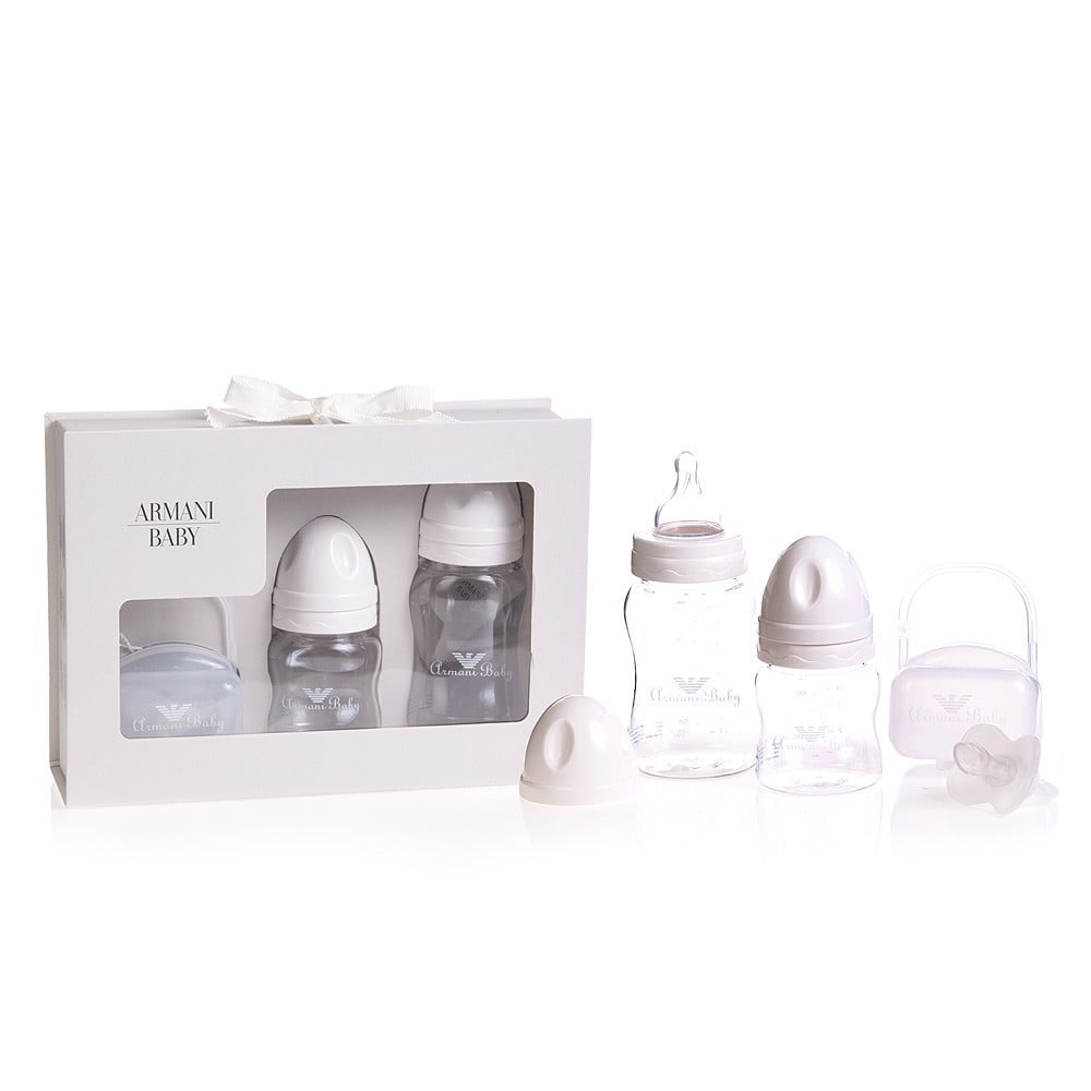 Armani Junior Ivory Baby Bottles ($117)