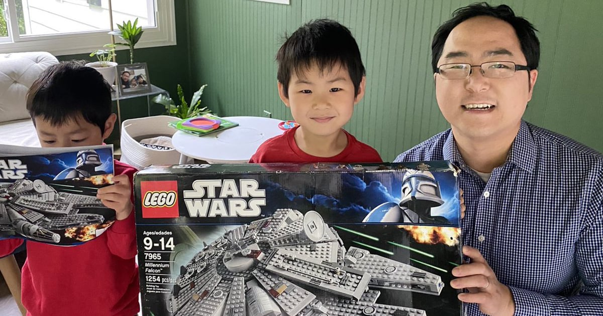 This Dad Waited 10 Years to Build a Lego Millennium Falcon With His Future Children.jpg