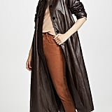 Goen.J Faux Leather Trench Coat