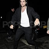 Robert Pattinson wrapped up a night out in London.