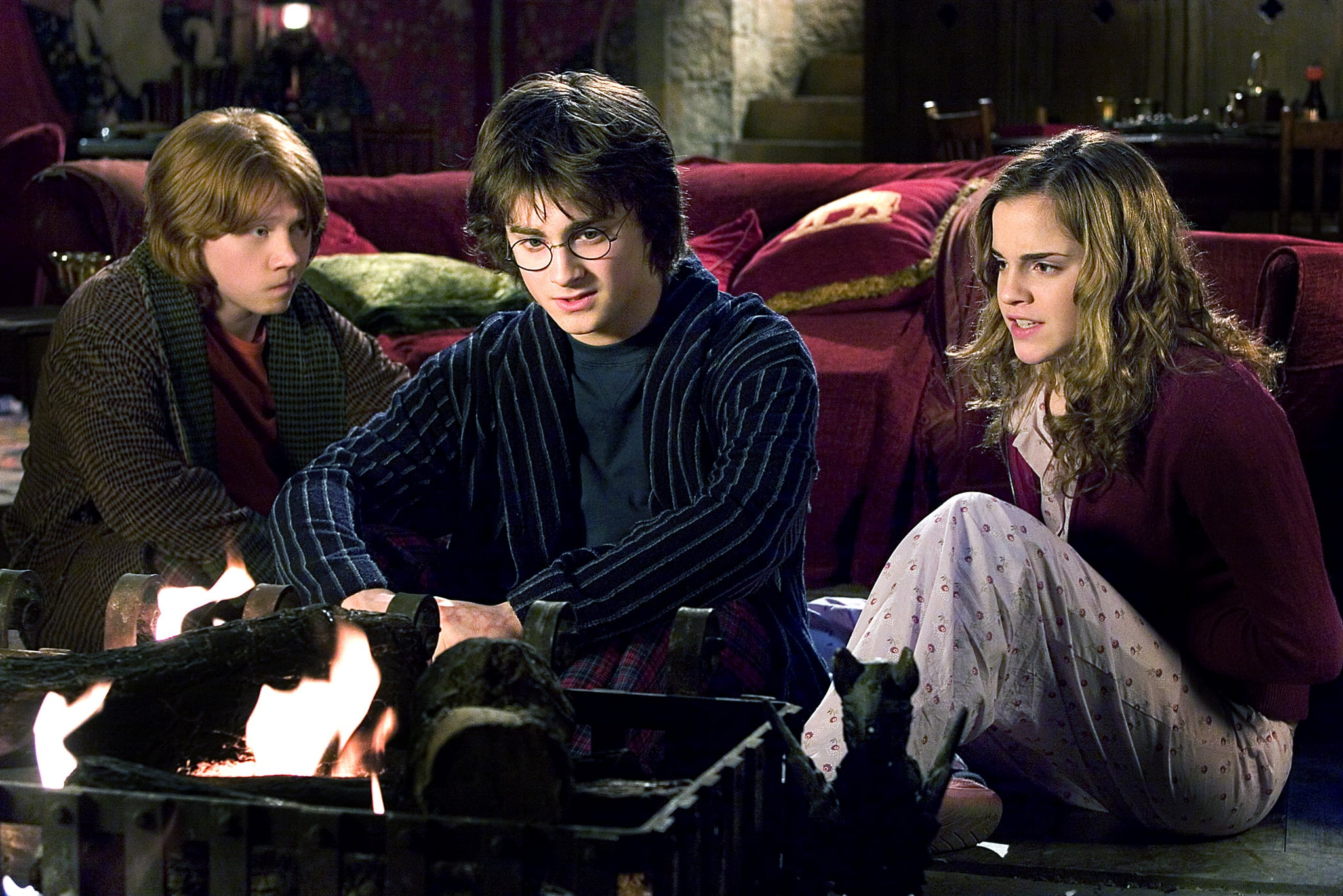 HARRY POTTER AND THE GOBLET OF FIRE, Rupert Grint, daniel Radcliffe, Emma Watson, 2005, (c) Warner Brothers/courtesy Everett Collection