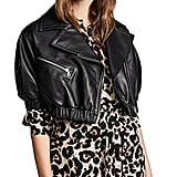 Yigal Azrouel Leather Puff Sleeve Moto Jacket