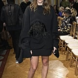 At the John Galliano show during Paris Fashion Week in March of 2017.