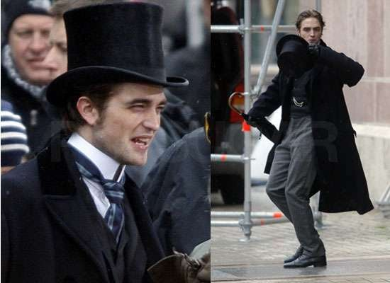 New Photos of Robert Pattinson Filming Bel Ami in Budapest in Costume New Pictures Named Glamour UK's Best Dressed Man