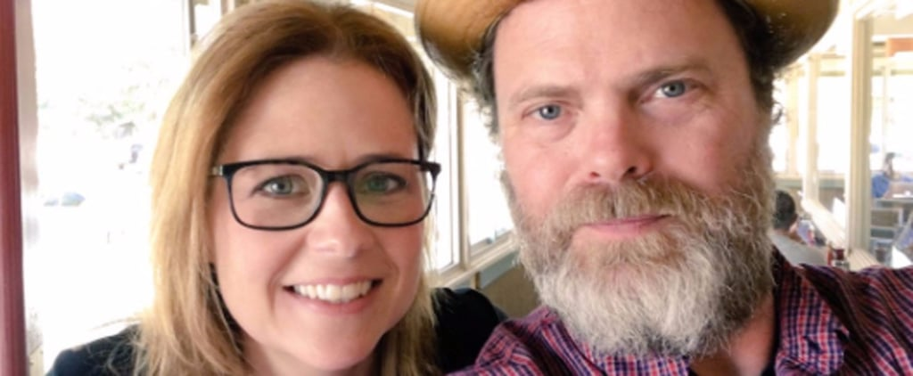 Jenna Fischer and Rainn Wilson Selfie May 2017