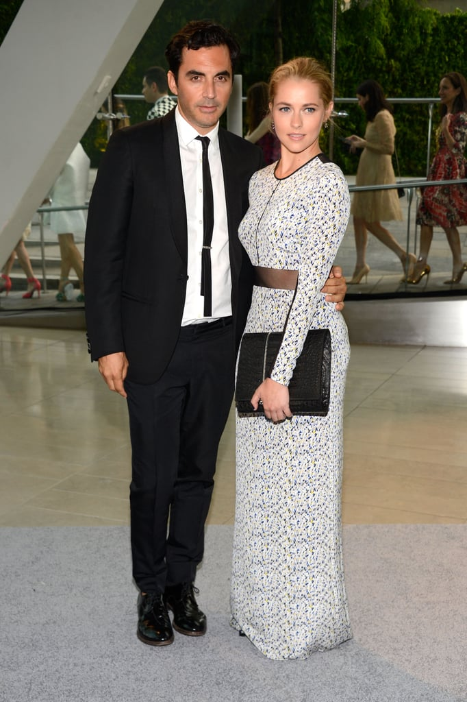 Teresa Palmer posed with designer Yigal Azrouel at the CFDA Fashion Awards.