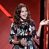 Bailee Madison from Once Upon a Time spoke on stage during the Young Hollywood Awards.