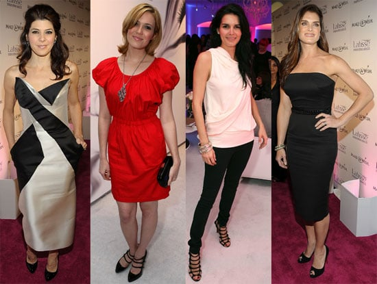 Photos of Mandy Moore With Her Wedding Rings, Brooke Shields, Angie Harmon, Marisa Tomei at Latisse Launch Party