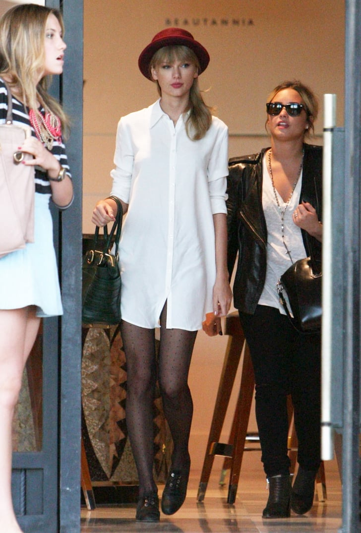 Taylor Swift And Demi Lovato Shopping Trip Popsugar Celebrity
