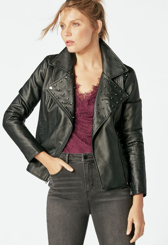 Embellished Biker Jacket