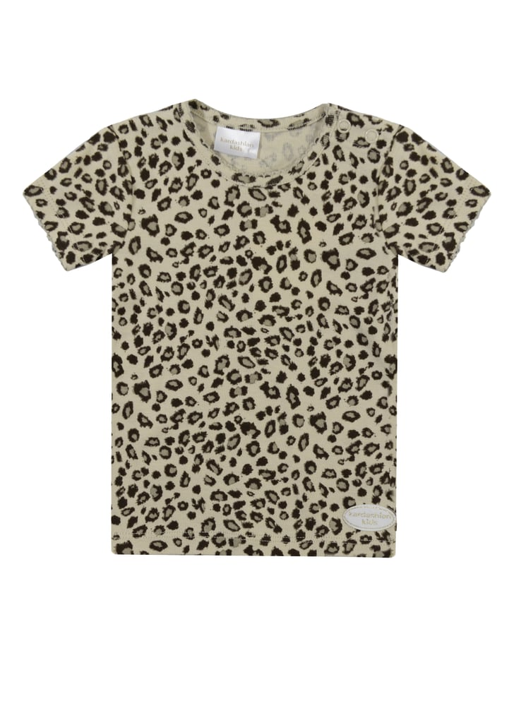 Animal print tee kardashian kids clothing line pictures for Leopard print shirts for toddlers