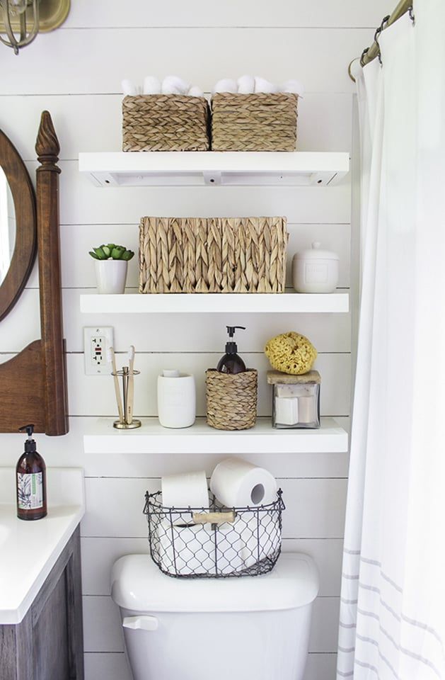 Floating Shelves Create Lots Of Storage Surface While Maintaining The Open Airy Feel
