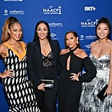 Amanda Seales, Tamera Mowry-Housley, Adrienne Houghton, and Jeanie Mai at NAACP Image Awards Dinner
