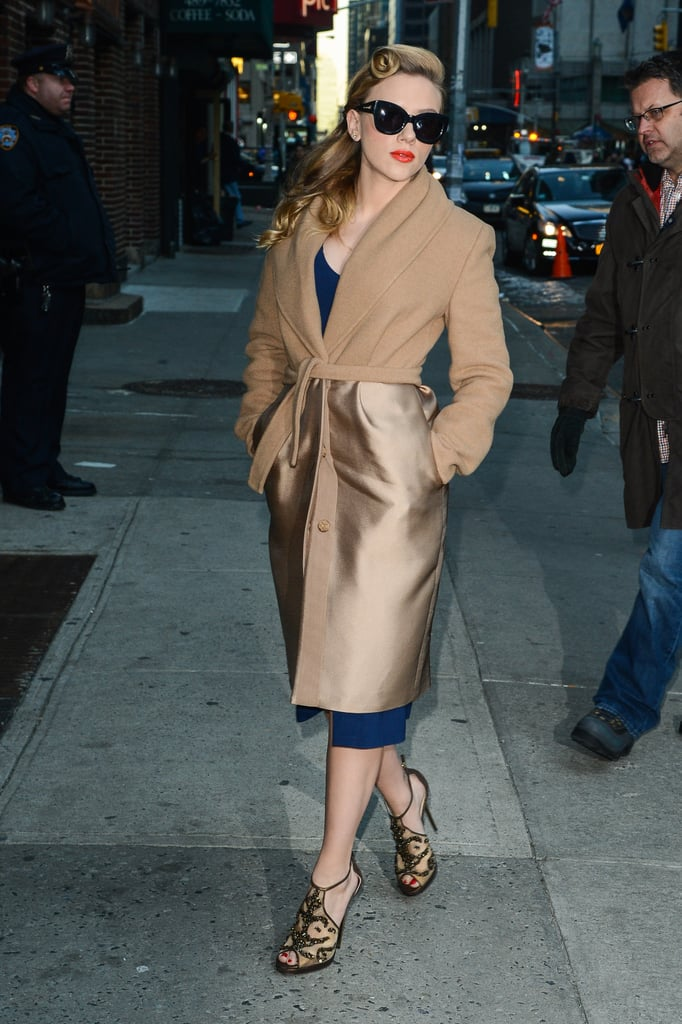 Scarlett Johansson Outside Late Show With David Letterman