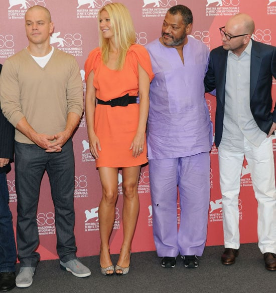 Gwyneth Paltrow and Matt Damon Team Up For a Contagion Photo Call at Venice