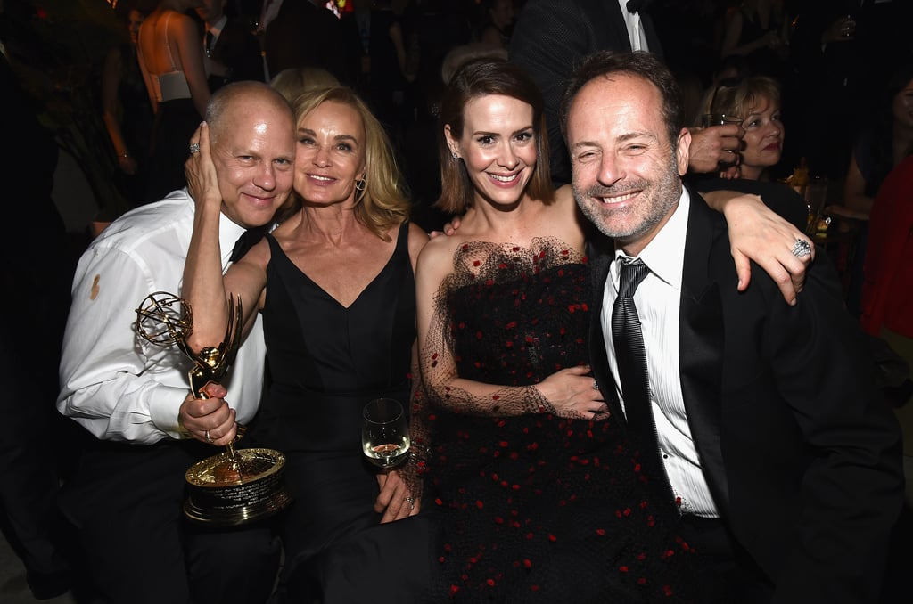 Ryan Murphy, Jessica Lange, Sarah Paulson, and John Landgraf celebrated at FOX's party.