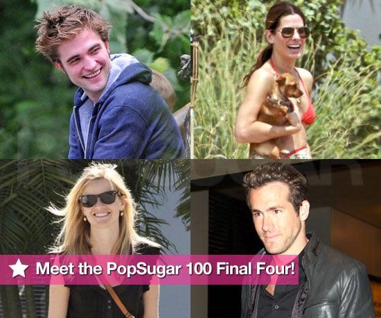 Robert, Reese, Ryan, and Sandra —Meet the PopSugar 100 Final Four!