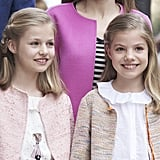 Princess Leonor and Infanta Sofía in 2016