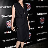 Kristin Scott Thomas wore a black frock.