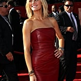 Brooklyn Decker kept her accessories minimal to show off her fit frame.