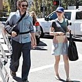 Rachel McAdams and Michael Sheen walked towards the Farmers Market together in Studio City.