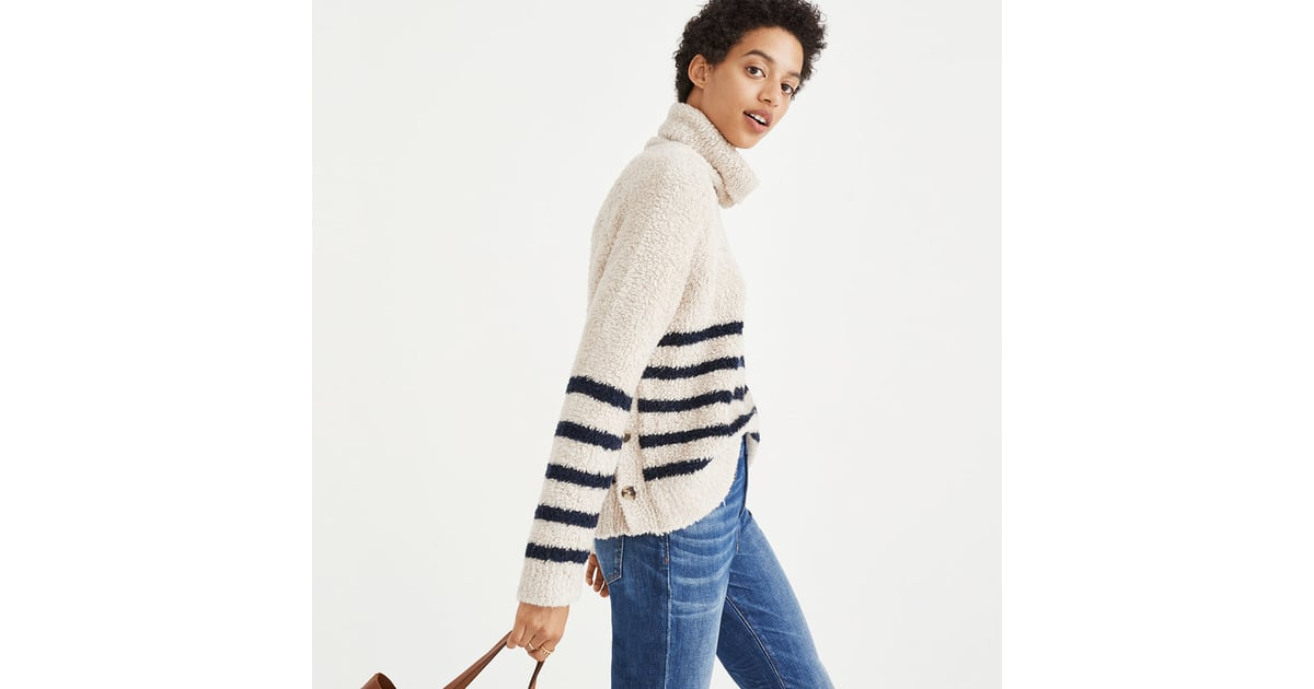 5054cb1a230 Madewell Mariner Stripe Turtleneck Sweater