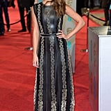 Alicia stunned in this textured Louis Vuitton dress at the BAFTAs.