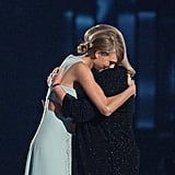 Taylor's mom handed her the milestone award at the Academy of Country Music Awards in April 2015.