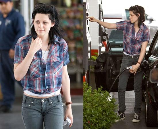 Kristen Stewart Pumping Gas