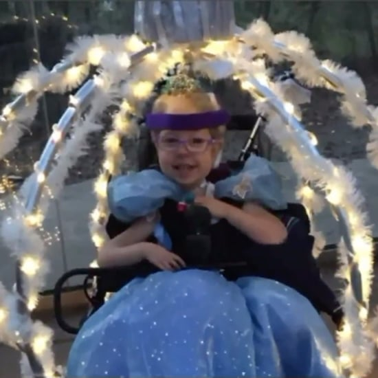 Mom Turns Daughter's Wheelchair Into Princess Carriage