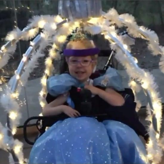 Mum Turns Daughter's Wheelchair Into Princess Carriage