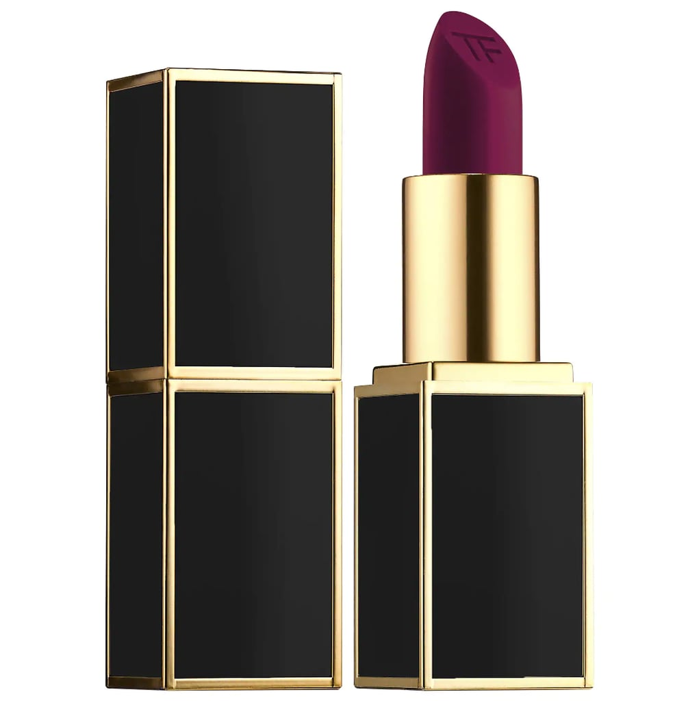 If your favorite berry-toned lipstick crossed over to the dark side, it'd look like this midnight raspberry ($55) lipstick. The creamy matte finish and luxe packaging make it a total must have in your Fall beauty rotation.