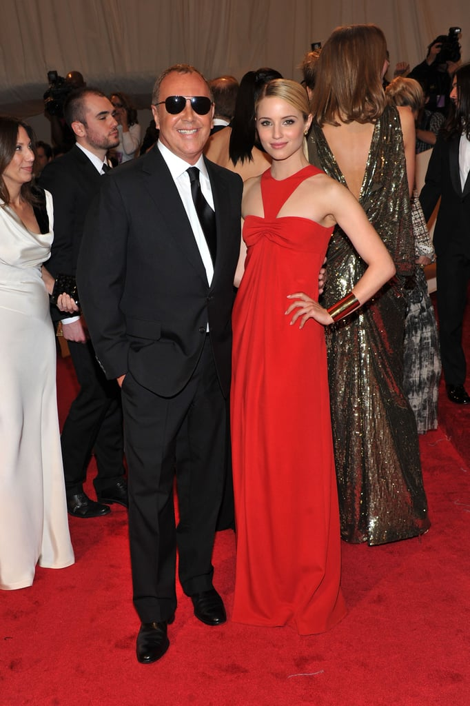 Michael Kors with Dianna Agron in his design