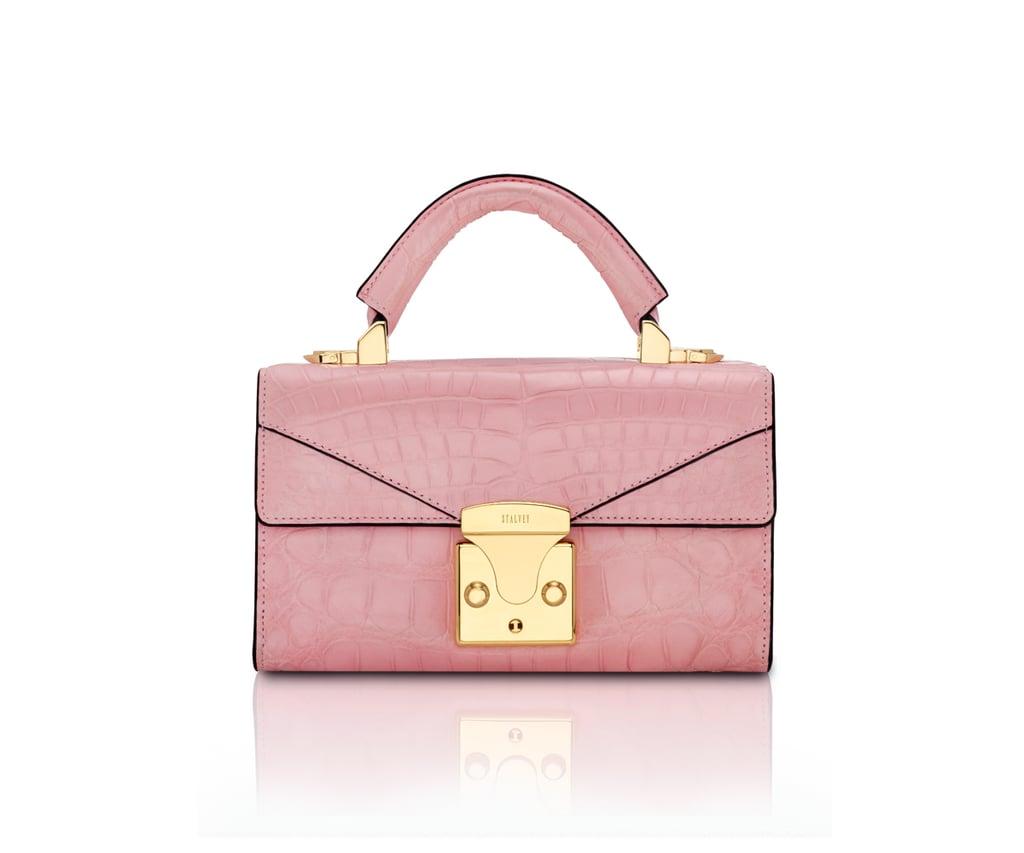 7ff6eb5f960e Stalvey Top Handle 2.0 Millennial Pink Alligator Mini Handbag ...