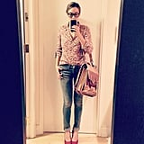 Lauren Conrad snapped a photo of her outfit. Source: Instagram user laurenconrad