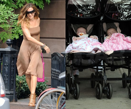 Slide Photo of Sarah Jessica Parker's Twins Tabitha and Marion in New York