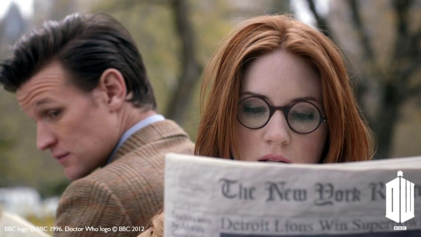 """Karen Gillan on the Beatles-like mania in New York City: """"We did it [filming] in Central Park, which was amazing because we had no idea it would be like that, but we got there and the people were screaming."""""""