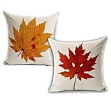 Leaf Throw Pillows