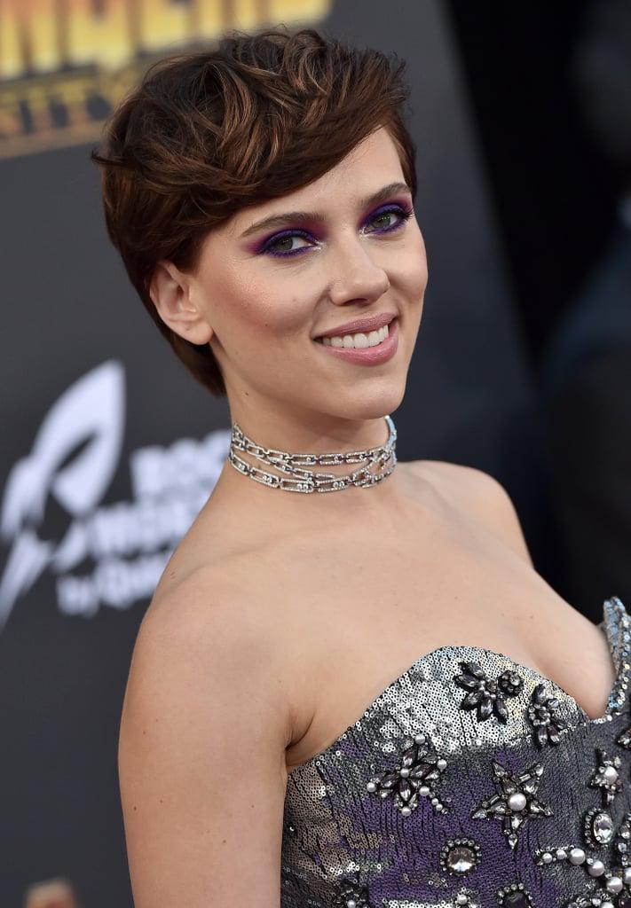 Scarlett Johansson With Brown Hair