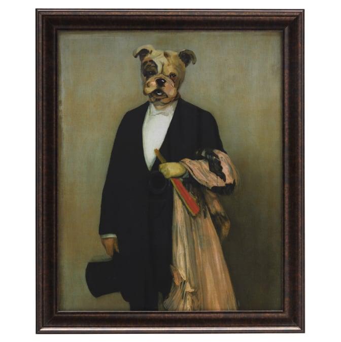 Human Dog Print & Frame