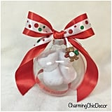 Floating Baby Bootie Pregnancy Reveal Ornament