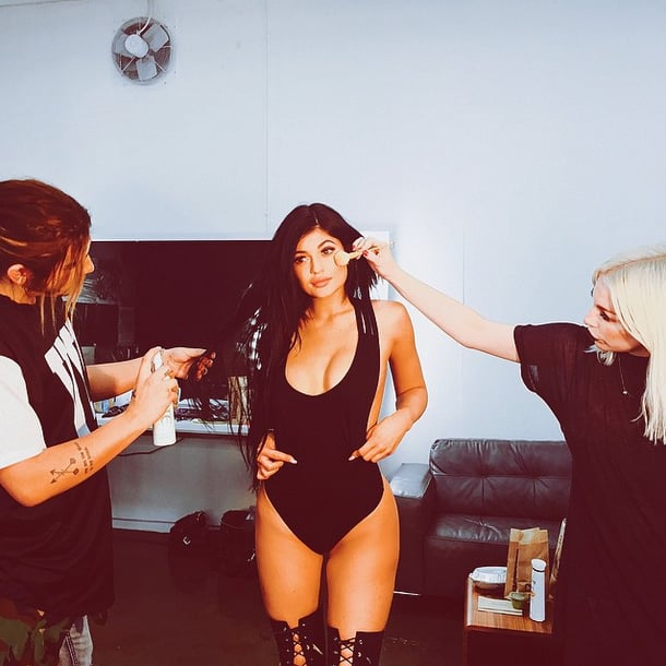 21 Times Kylie Jenner Showed Off Her Curves in a Sexy Black Swimsuit