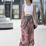 With a Boho Skirt