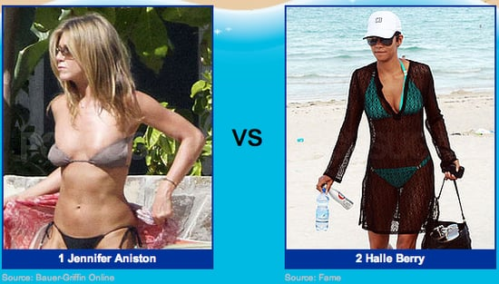 Halle Berry Bikini Pics vs. Jennifer Aniston Bikini Pics