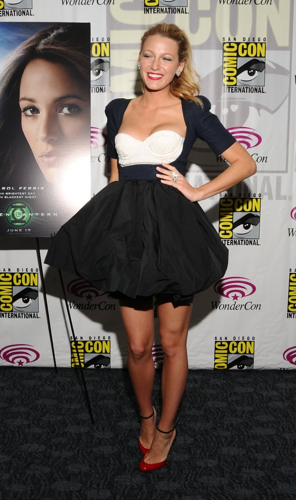 Wearing a Carven dress to Wondercon in 2011.